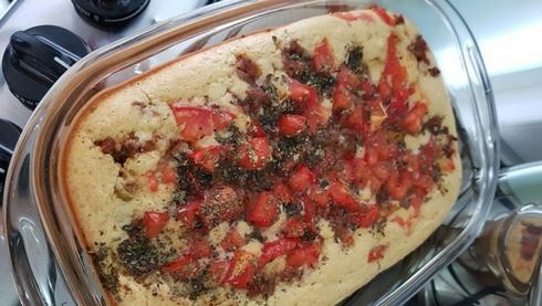Torta low carb salgada de liquidificador com restodontê